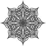 Monokrom åttahörnig mandala Grafisk rosett för albumet _ Arkivbilder