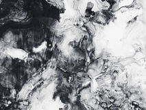 Monokrom bakgrund för abstrakt konst, texturmålning Fotografering för Bildbyråer