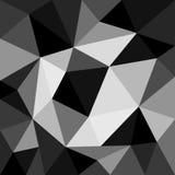 Monokrom bakgrund i polygonal stil Royaltyfri Foto