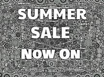 Monokrom för sommarförsäljningstecken Arkivfoto