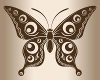 Monokrom fjäril Arkivbilder