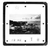 monokrom gammal glidbana för hållare Arkivfoton