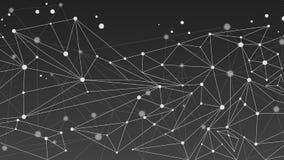 Monokrom geometrisk abstrakt molekylbakgrund Arkivbilder