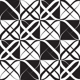 Monokrom geometrisk modell Royaltyfri Foto