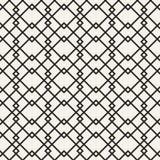 Monokrom geometrisk modell för abstrakt begrepp Svartvit minsta bakgrund Idérik illustrationmall seamless Royaltyfri Bild