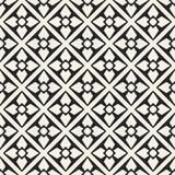 Monokrom geometrisk modell för abstrakt begreppsvektor Svartvit minsta bakgrund Idérik illustrationmall Royaltyfri Bild
