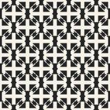 Monokrom geometrisk modell för abstrakt begreppsvektor Svartvit minsta bakgrund Idérik illustrationmall Arkivbild