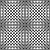 Monokrom geometrisk prydnad seamless vektor för modell Arkivfoton