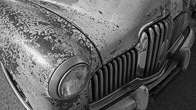 Monokrom Holden klassikerbil Royaltyfria Bilder