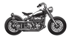 Monokrom illustration av den klassiska motorcykeln Royaltyfri Foto
