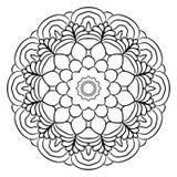Monokrom mandala för färgbok En modell i cirkeln illu Arkivfoton