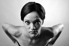 Monokrom modeflicka Fotografering för Bildbyråer