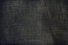 Monokrom närbildtextur, linnebakgrund, linyttersidanivå, tygprovkarta Royaltyfri Fotografi