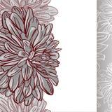 Monokrom sömlös bakgrund med blommor. Vektorillustration Fotografering för Bildbyråer