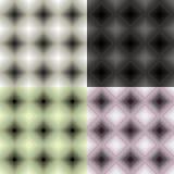 Monokrom sömlös fyrkant för fastställd geometrisk modell Vektorillustr Arkivbild