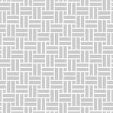 Monokrom sömlös modell i asiatisk stil med vinkelräta rektanglar Arkivbild