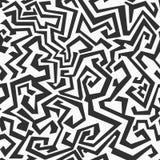 Monokrom sömlös labyrintmodell Royaltyfria Foton
