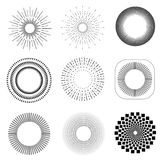 Monokromma geometriska tappningetiketter vektor illustrationer