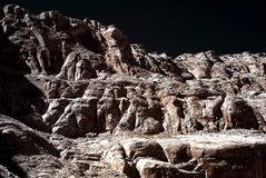 monokromma klippor Arkivbild