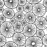Monokromma organiska rundor Stilfull struktur av naturliga celler abstrakt bakgrund tecknad hand royaltyfri illustrationer