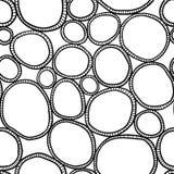 Monokromma organiska rundor Stilfull struktur av naturliga celler abstrakt bakgrund tecknad hand stock illustrationer