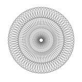 Monokromt elegant cirkulär Royaltyfria Bilder