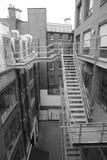Monokromt kontor, London Arkivbild