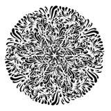 Monokromt svartvitt snör åt prydnadvektorn Arkivfoto