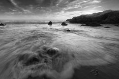 Monokromt tidvatten Arkivfoto