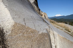 Monolit of the granite stone and mountain Stock Photography