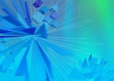 monolita wireframe Zdjęcia Royalty Free