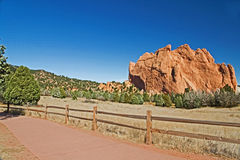 Monolith in Garden of the Gods Royalty Free Stock Photo
