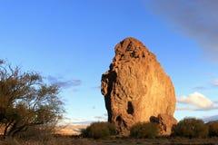 Monolith Piedra Parada im Chubut-Tal, Argentinien Stockfoto