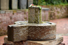 Monolith Shiva lingam and yoni Stock Image