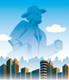 Monolithe d'affaires illustration de vecteur