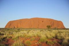 Monolithe de roche d'Ayers Images libres de droits