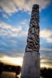 Monolithe de stationnement de Vigeland Images stock