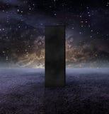 Monolithe noir illustration de vecteur