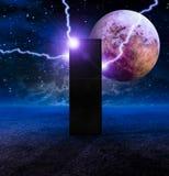 Monolithe sur la planète sans vie illustration libre de droits