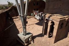 A monolithic church, Lalibela Royalty Free Stock Photos