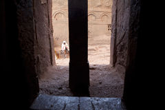 A monolithic church, Lalibela Stock Image