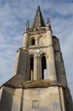 Monolithic church of Saint-Emilion. France, the monolithic church of Saint-Emilion stock photos