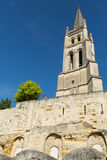 The Monolithic Church in St. Emilion Stock Image
