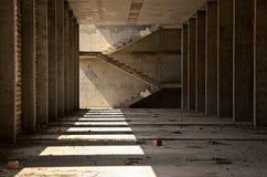 Monolithic concrete columns Stock Photo