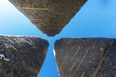 Monolithic granite located facade Tokyo sky tree Royalty Free Stock Photos
