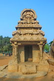 Monolithic rock cut Five Rathas at Mahabalipuram, India Royalty Free Stock Photo