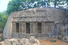Monolithic rock cut temple, Mahabalipuram Stock Images