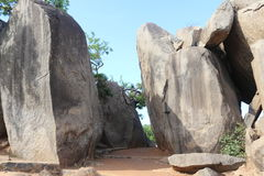 Monolithic rocks stand as entrance gate Royalty Free Stock Photography