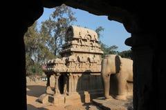 Monolithische Tempel Royalty-vrije Stock Foto's