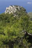 Monolithos城堡 库存图片